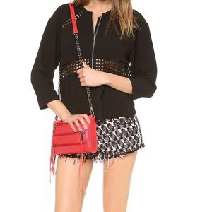 Rebecca Minkoff mini red 5 zip crossbody